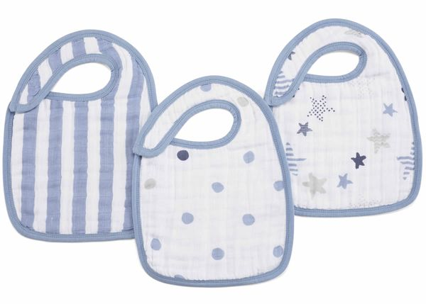 Aden + Anais Snap Bibs, 3 Pack - Rock Star