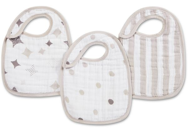 Aden + Anais Snap Bibs, 3 Pack - Shine On