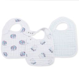 Aden + Anais Snap Bibs, 3 Pack - Thistle