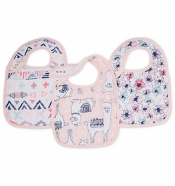 Aden + Anais Snap Bibs, 3 Pack - Trail Blooms