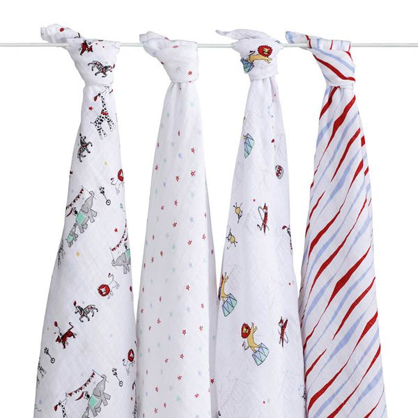 Aden + Anais Classic Swaddle Wraps, 4 Pack - Vintage Circus