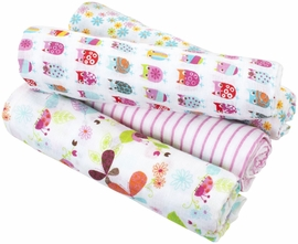 Aden + Anais Classic Swaddle Wrap 4 Pack, Zutano - Walk in the Park