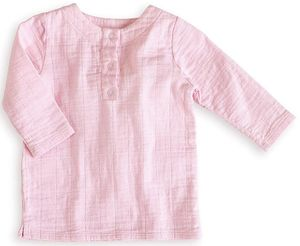 Aden + Anais Tunic Top - Lovely Solid Pink (6-9 Months)