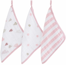 Aden + Anais Washcloth Set, 3-Pack - Heart Breaker