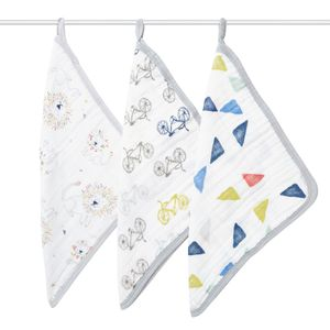 Aden + Anais Washcloth Set, 3-Pack - Leader of the Pack