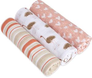 Aden + Anais White Label Classic Swaddle Wrap 3 Pack - Flock Together