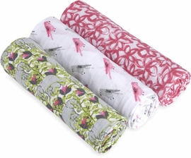 Aden + Anais White Label Classic Swaddle Wrap 3 Pack - Paradise Cove