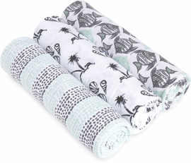 Aden + Anais White Label Classic Swaddle Wrap 3 Pack - Seaside