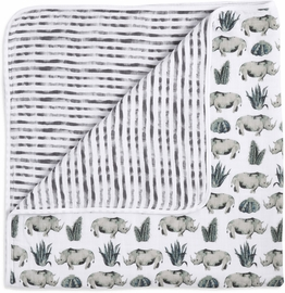 Aden + Anais White Label Dream Blanket - Serengeti