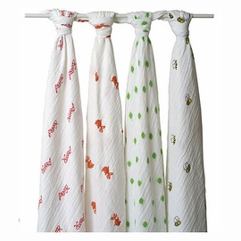 Aden and Anais 4 Pack Muslin Wraps in Mod