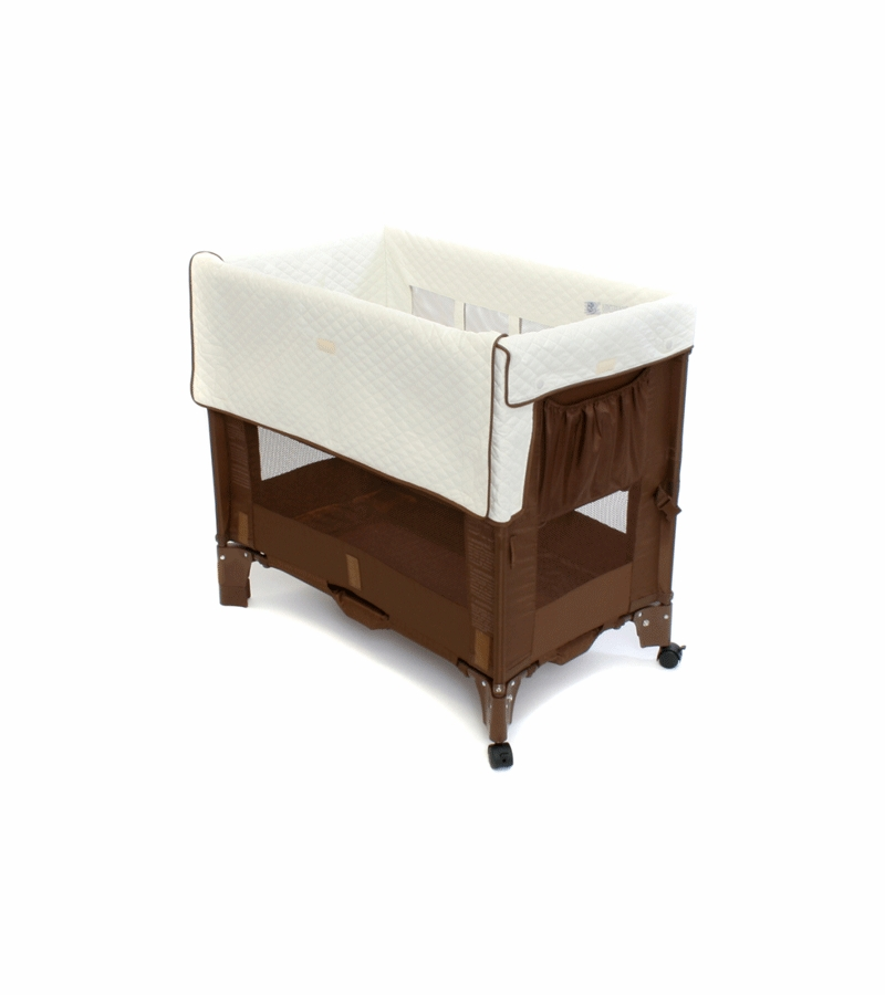 Arm S Reach Mini Convertible Co Sleeper In Cocoa With Natural Liner