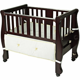 Arms Reach The Co-Sleeper Sleigh Bed Bassinet Espresso