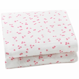 Auggie Twin Fitted Sheet in Little Flutter Pink