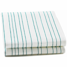 Auggie Twin Fitted Sheet in Painted Stripe Ocean