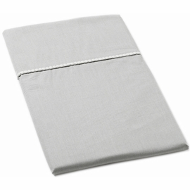 Auggie Twin Fitted Sheet in Solid Grey