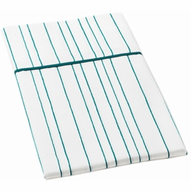 Auggie Twin Flat Sheet in Painted Stripe Ocean