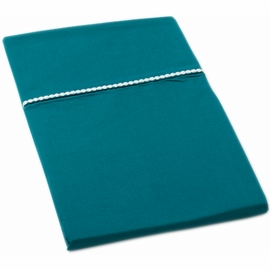 Auggie Twin Flat Sheet in Solid Ocean
