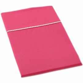 Auggie Twin Flat Sheet in Solid Pink