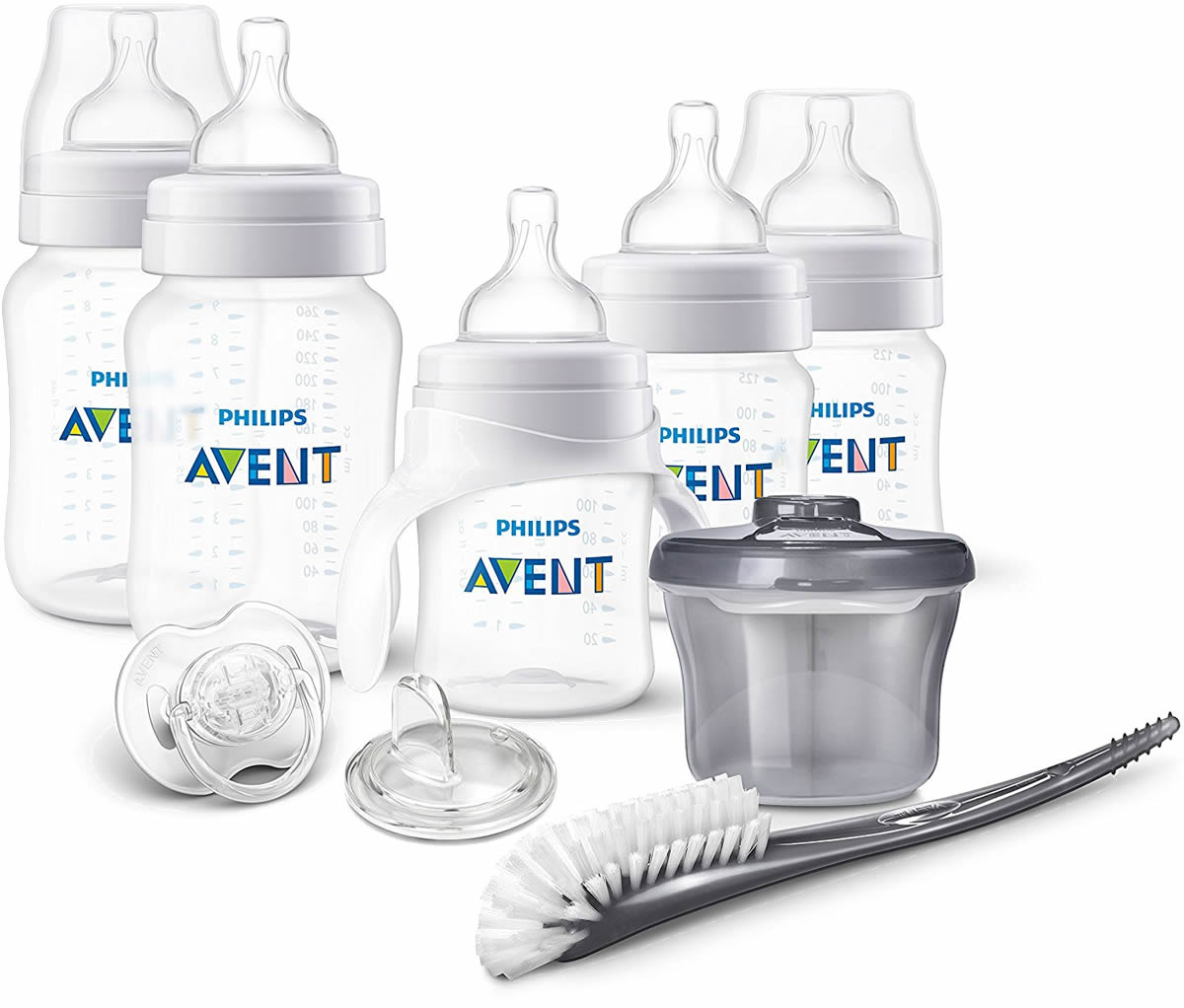 Philips Avent Anti-Colic Baby Bottle with AirFree Vent Beginner Gift Set Pink,