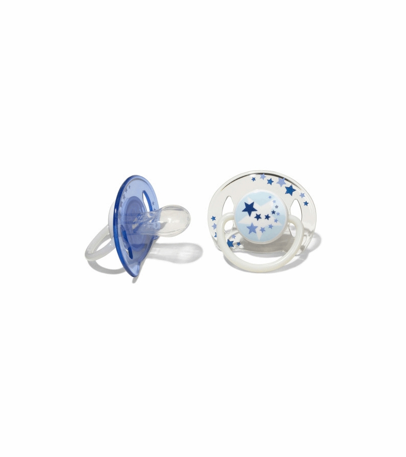 SCF176//22 Philips Avent Glow in the Dark Orthodontic Pacifier 6-18 Months Blue