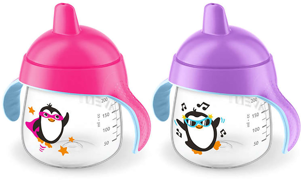 Avent Spout Sippy Cup 2 Pack 9oz Pink Purple