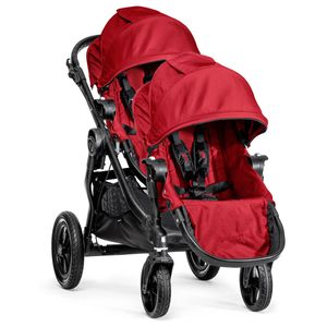 Baby Jogger City Select Double Stroller - Red
