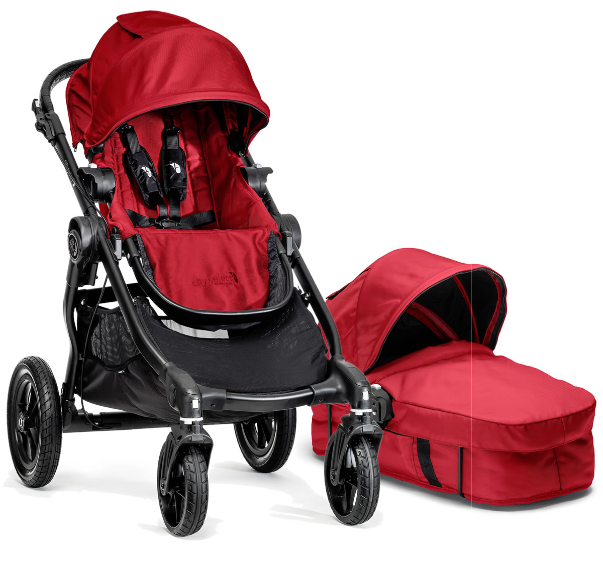 Baby Jogger City Select Stroller Bassinet Red