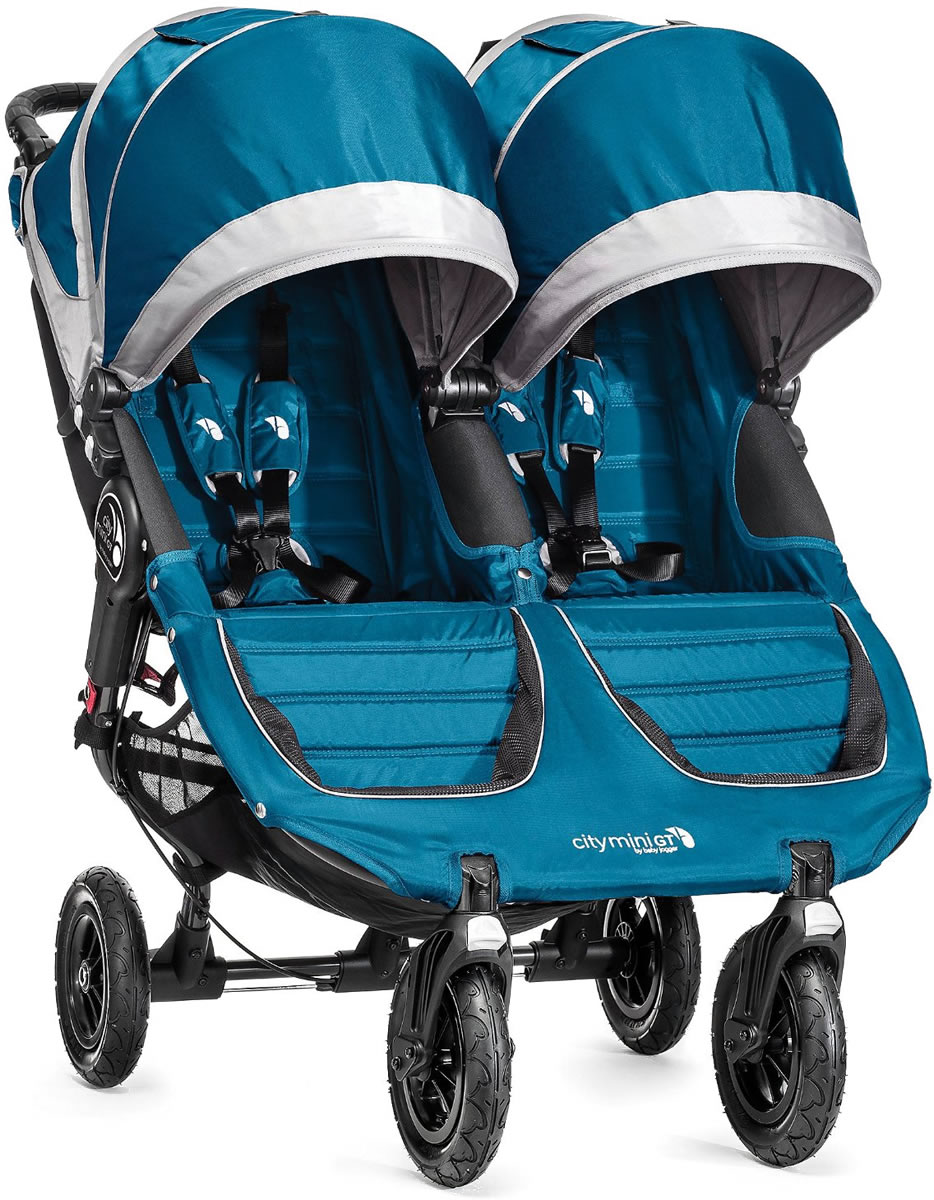 Baby Jogger City Mini Gt Double Stroller 2016 2017 Teal Gray