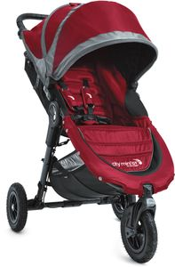 Baby Jogger City Mini GT Single 2016/2017 Stroller - Crimson / Gray