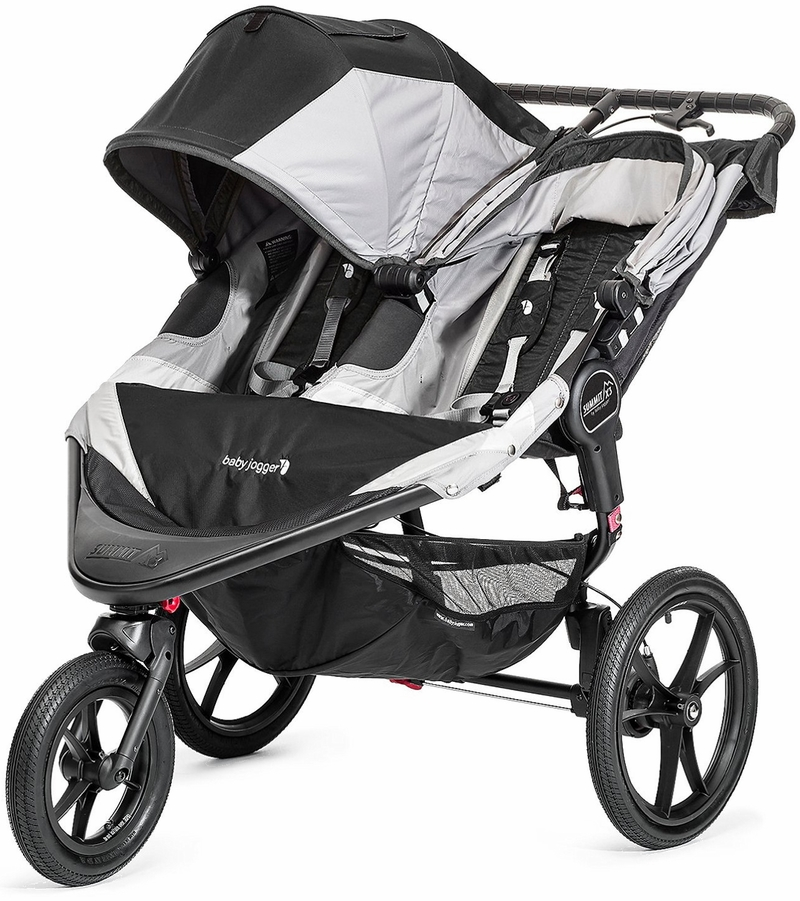 Baby Jogger 2016 Summit X3 Double Jogging Stroller Black Gray