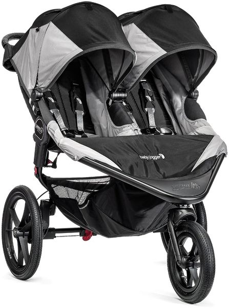 Baby Jogger Summit X3 Double Jogging Stroller - Black / Gray