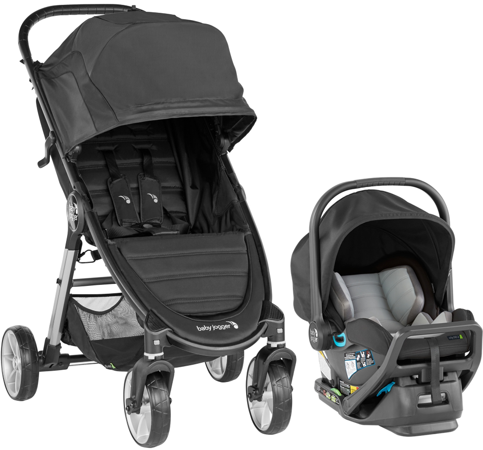 Baby Jogger City Mini 2 4-Wheel Travel System - Jet