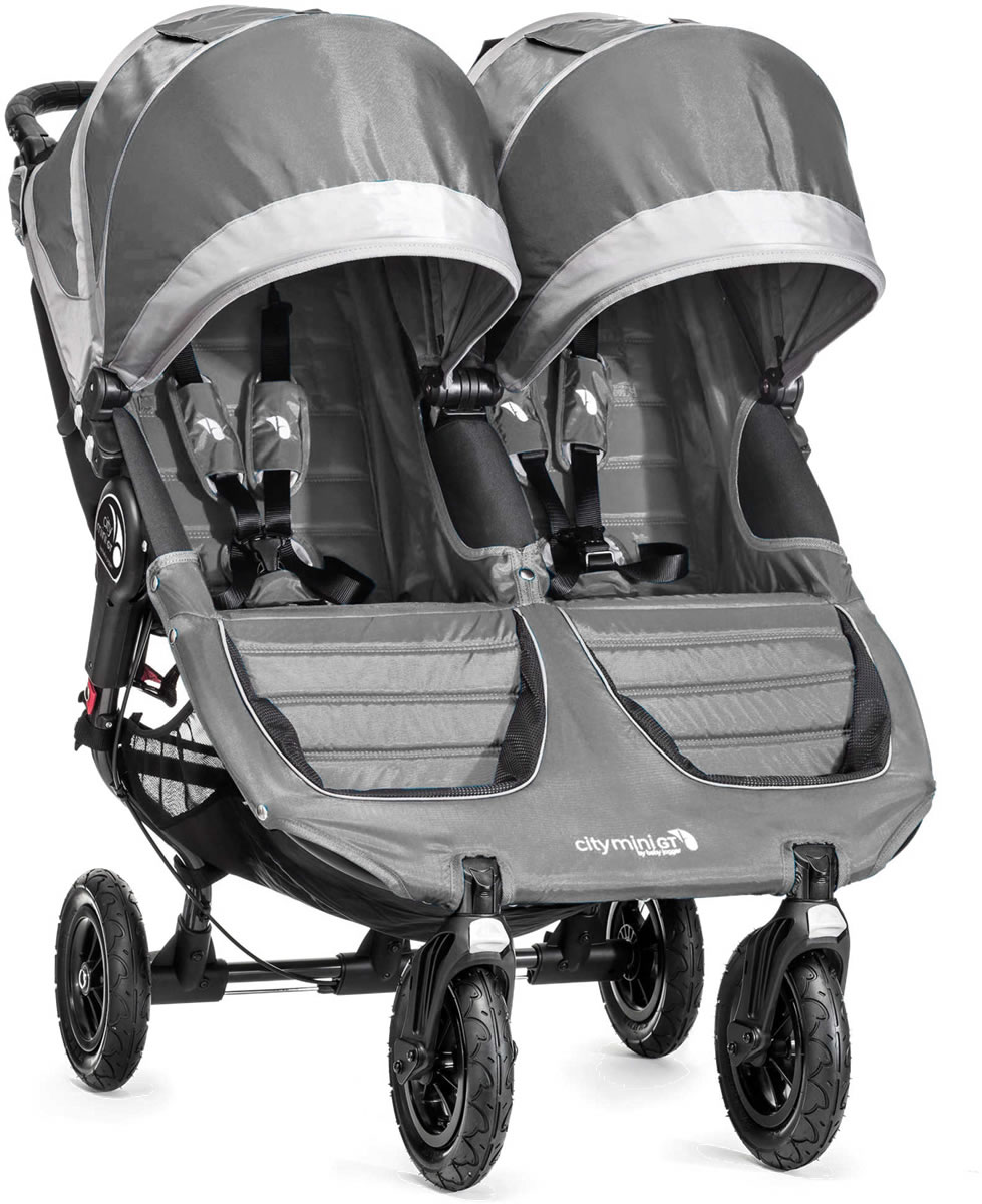 Baby Jogger City Mini Gt Double Stroller 2016 2017 Steel Gray