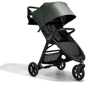 Baby Jogger City Mini GT2 Single Stroller + Parent Console + Belly Bar  -  Briar Green