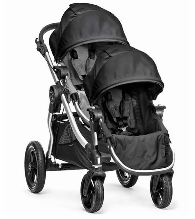 Baby Jogger City Select Double Stroller Gray Black