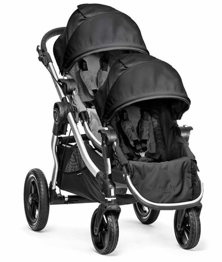 Baby Jogger City Select Double Stroller - Gray/Black