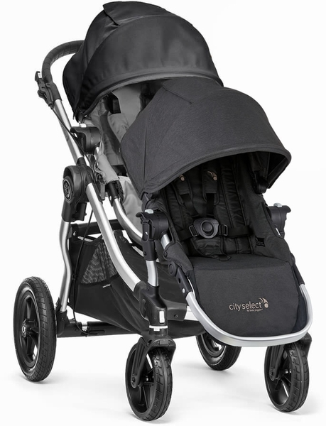 Baby Jogger City Select Double Stroller - Gray/Black/Jet