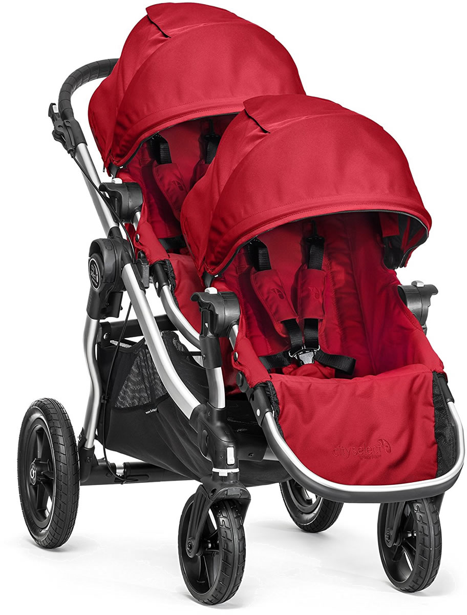 6ac9c4b8abad Baby Jogger City Select Double Stroller - Ruby