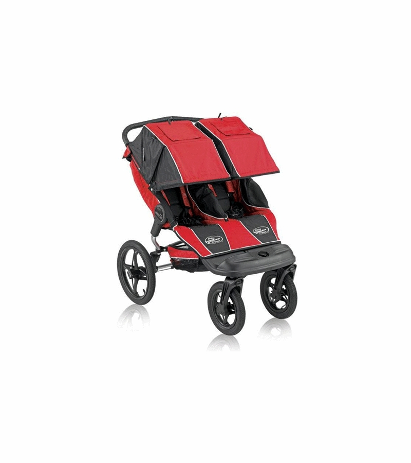 Baby Jogger Summit 360 Double Stroller In Red Black