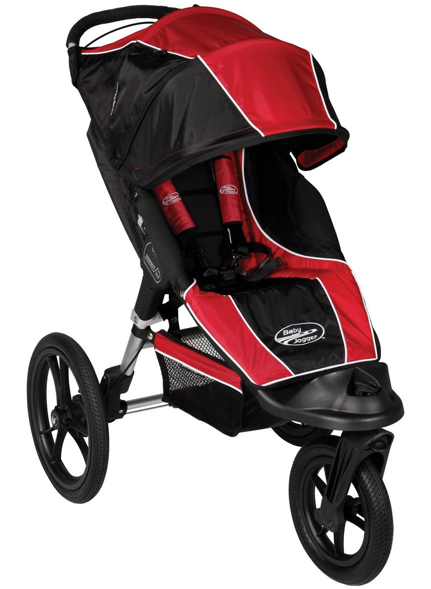 Baby Jogger Summit Xc Single 2012 Jogging Stroller Red Black