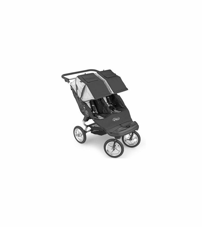 Baby Jogger Swivel City Classic Double 2008 Jet Black Silver