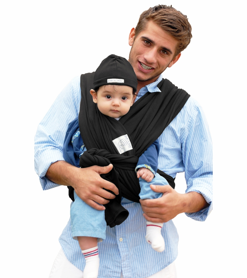 Baby K Tan Baby Carrier In Basic Black Small