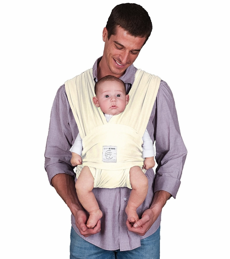 Baby K Tan Baby Carrier In Natural Organic Small