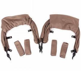 Baby Monsters Kuki Twin Stroller Canopy - Taupe