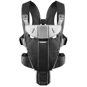 BabyBjörn Miracle Baby Carrier - Black/Silver