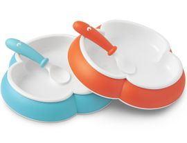 BabyBjörn Plate and Spoon 2 Pack in Orange & Turquoise
