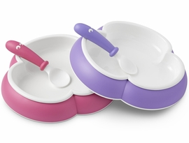 BabyBjörn Plate and Spoon 2 Pack in Purple & Pink