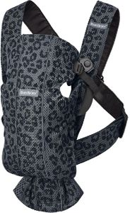 BabyBjorn Baby Carrier Mini, 3D Mesh - Anthracite Leopard
