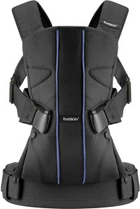 BabyBjorn Baby Carrier One - Black/Blue Lines