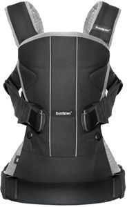 BabyBjorn Baby Carrier One - Black/Silver